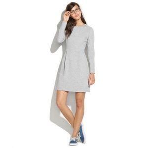 Madewell Grey Long Sleeve Sweatshirt Dress